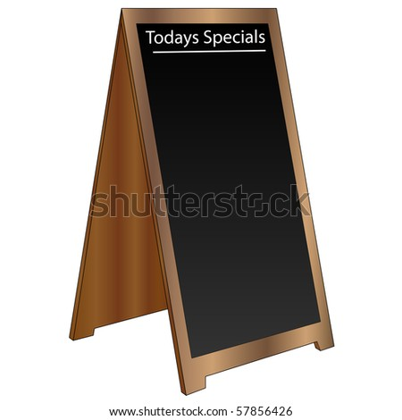 Wood menu sandwich board - stock vector