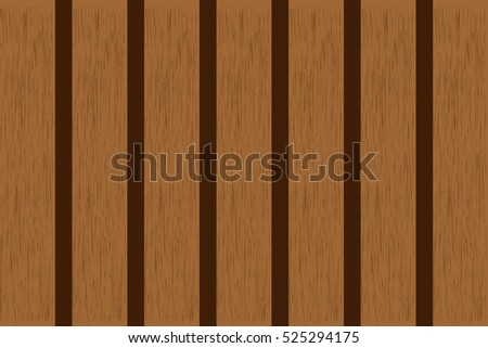 wood plank brown pattern texture and gnarl line surface beautiful board for background. Vector illustration Eps10