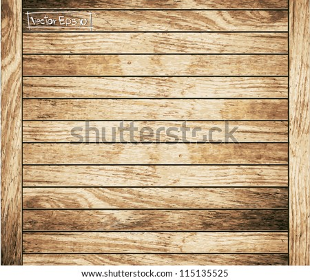 Wood plank brown texture background, Vector illustration - stock vector