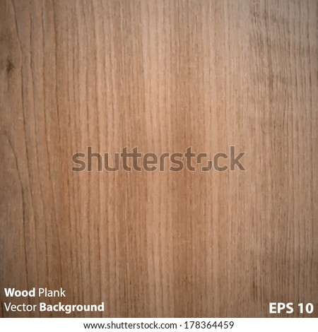 Wood Plank Texture - stock vector