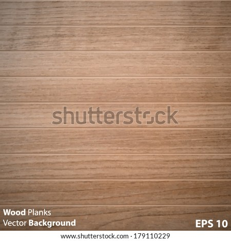 Wood Planks Vector Background - stock vector