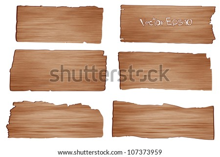 Wood planks, Vector illustration - stock vector