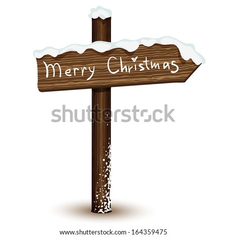 Wood sign isolated in vector - stock vector