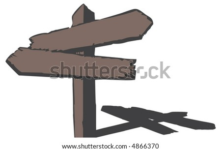 Wood sign. Vector illustration - stock vector