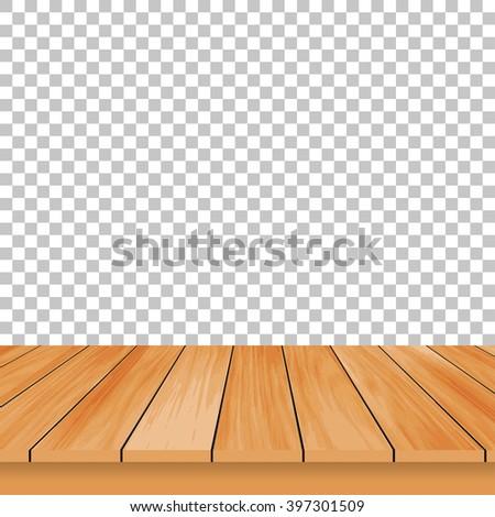Vector wood table top wooden floor stock vector 628519508 for Table design vector
