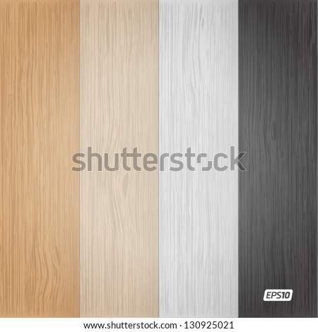 Wood texture set - stock vector