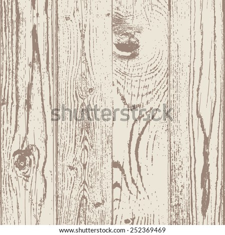 Wood texture template. Vector illustration. Natural wooden background. - stock vector