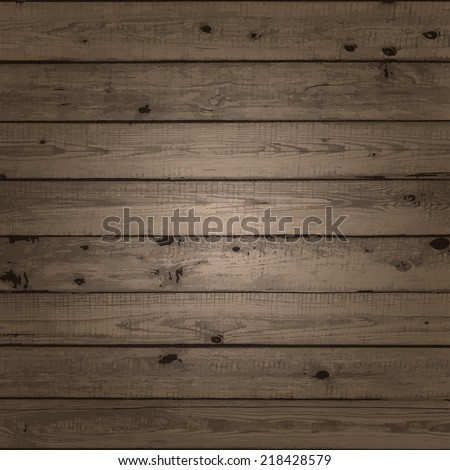Wood texture. Texture of old boards. Vector illustration. - stock vector