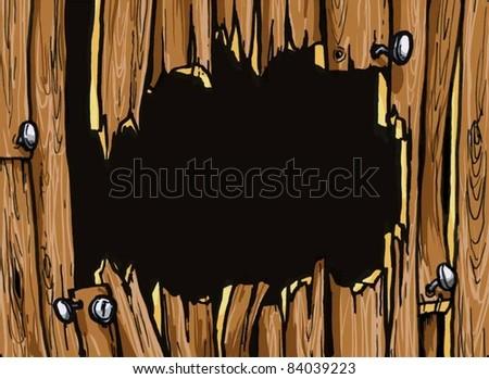 Wood Texture (vector) - stock vector