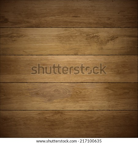 Wood texture. Vector wooden floor. - stock vector