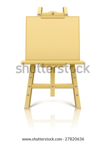 wooden art easel tool for drawing - vector illustration - stock vector