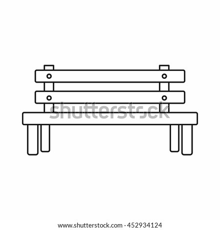 Wooden Bench Icon In Outline Style Park Line Drawing Symbol Isolated Vector Illustration View Preview