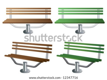 Wooden bench in two different colors - stock vector