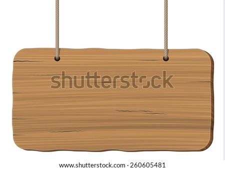 wooden board - stock vector