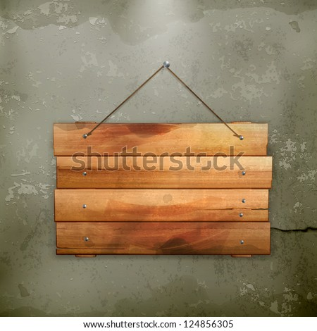 Wooden board, old-style - stock vector