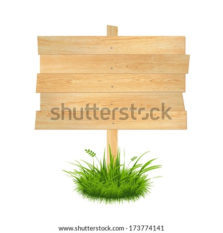 Wooden Board, Vector Illustration - stock vector