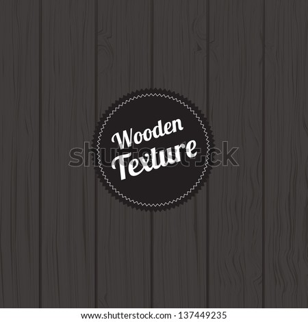 wooden board with wooden texture label vector illustration - stock vector