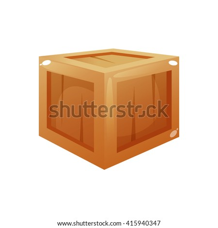 wooden box clipart. wooden box cartoon vector clipart