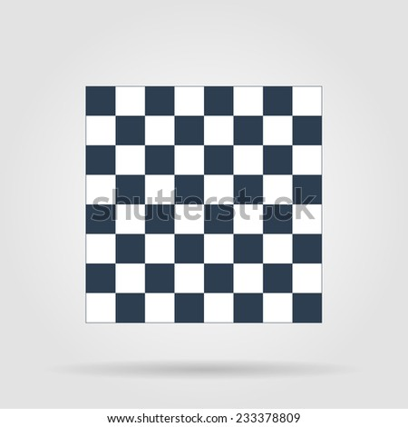 wooden chess board. flat view from top. - stock vector