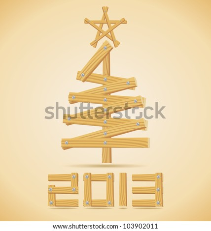 Wooden Christmas tree design