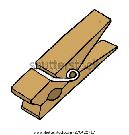 wooden clothespin cartoon vector illustration hand stock photo rh shutterstock com clothespin images clip art