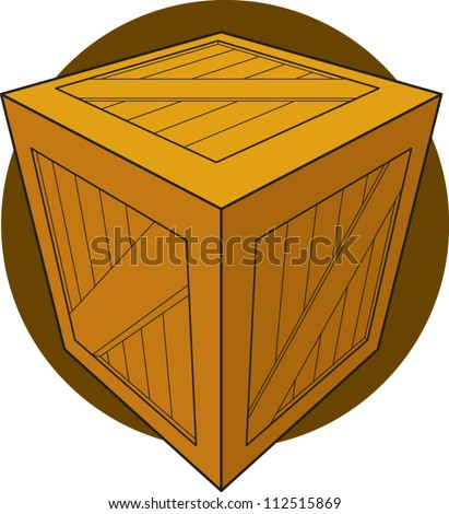 wooden box clipart. wooden crate or box clipart