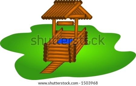 Wooden draw-well