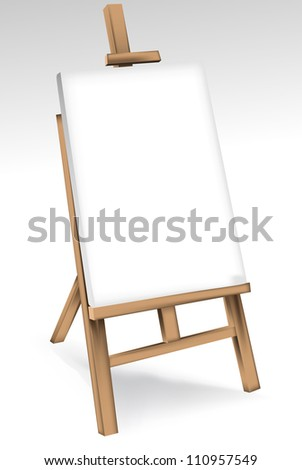 Wooden easel - stock vector