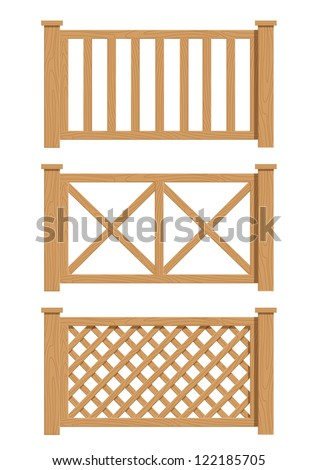 Wood Fence Drawing