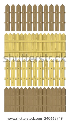 Wooden fence vector illustration - stock vector