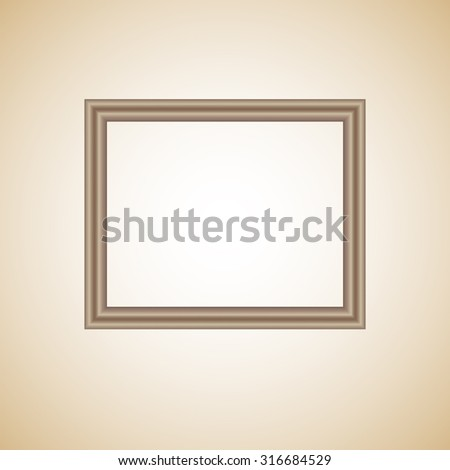 Wooden frame on a light background.  Vector illustration - stock vector