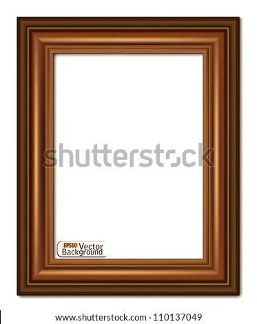 wooden frame.vector - stock vector