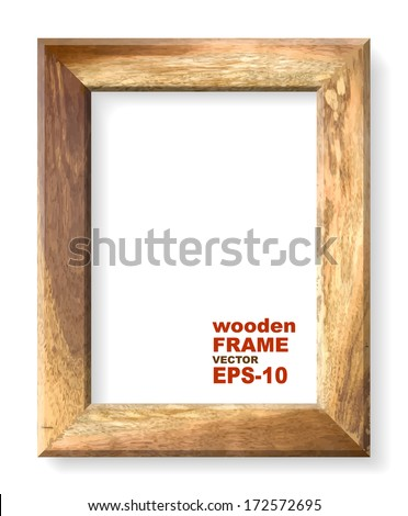 Wooden frame. Vector illustration. - stock vector