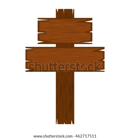 wooden label isolated icon vector illustration graphic