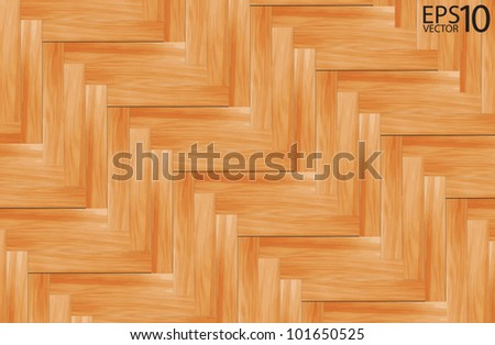 wooden parquet floor, Vector template - stock vector