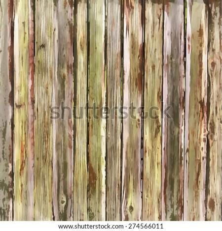Wooden Planks overlay texture.Watercolor imitation. Vector illustration. - stock vector