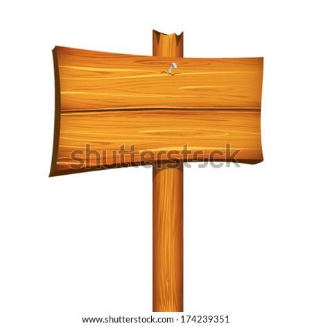 Wooden pointer board - stock vector