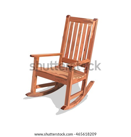 wooden rocking chair vector