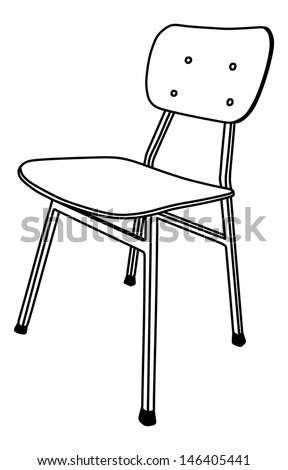 School Chair Drawing