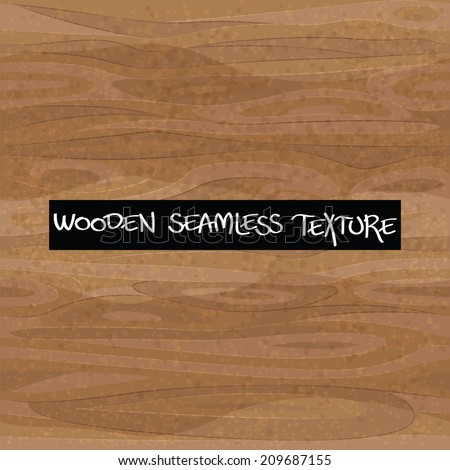 Wooden seamless textured background. Wood texture. Vector