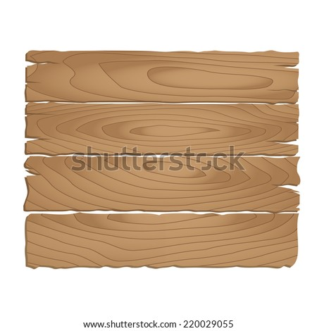 Wooden signpost on  white background. vector illustration - stock vector