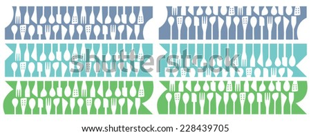 wooden spoons strips set
