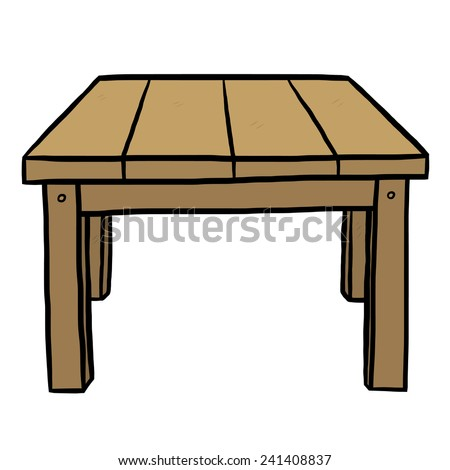 how to draw a cartoon table from up above