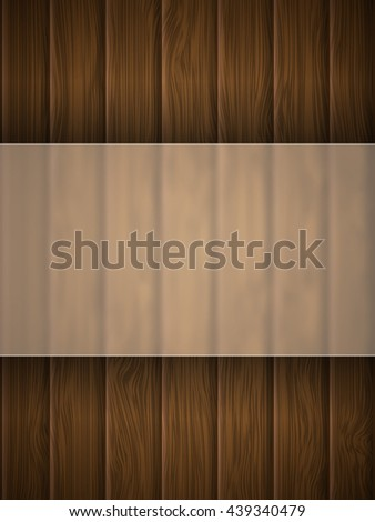 Wooden texture with place for text. Vector illustration. - stock vector