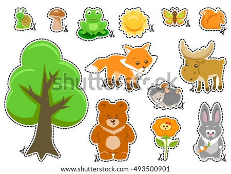 Woodland Animals and Cute Forest Design Elements