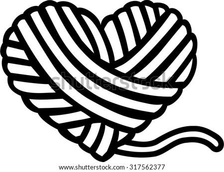wool ball heart stock photo photo vector illustration 317562377 rh shutterstock com