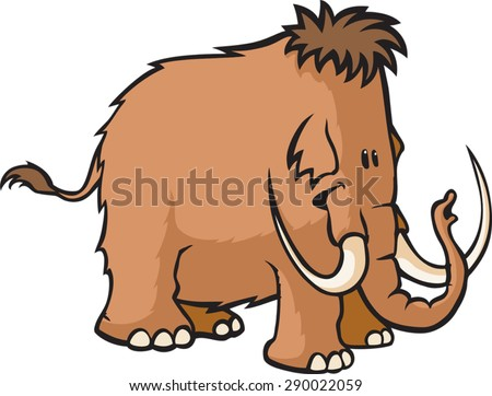 Woolly Mammoth  A cartoon Woolly Mammoth. Vector File. - stock vector