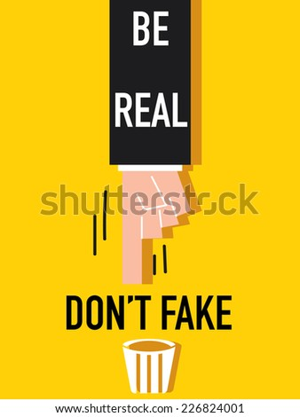Word Be real VECTOR ILLUSTRATION - stock vector