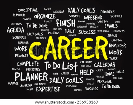 Word cloud of CAREER related items, vector presentation background - stock vector