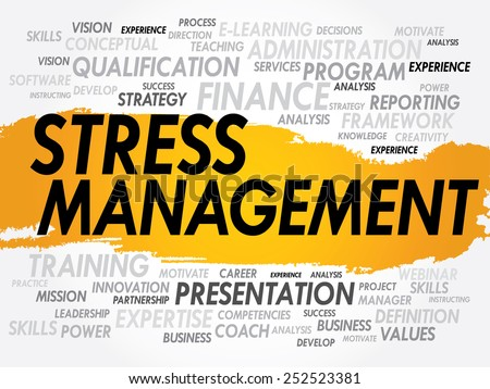 Word cloud of Stress Management related items, business concept - stock vector